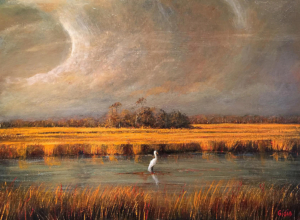Egret With Thunderhead