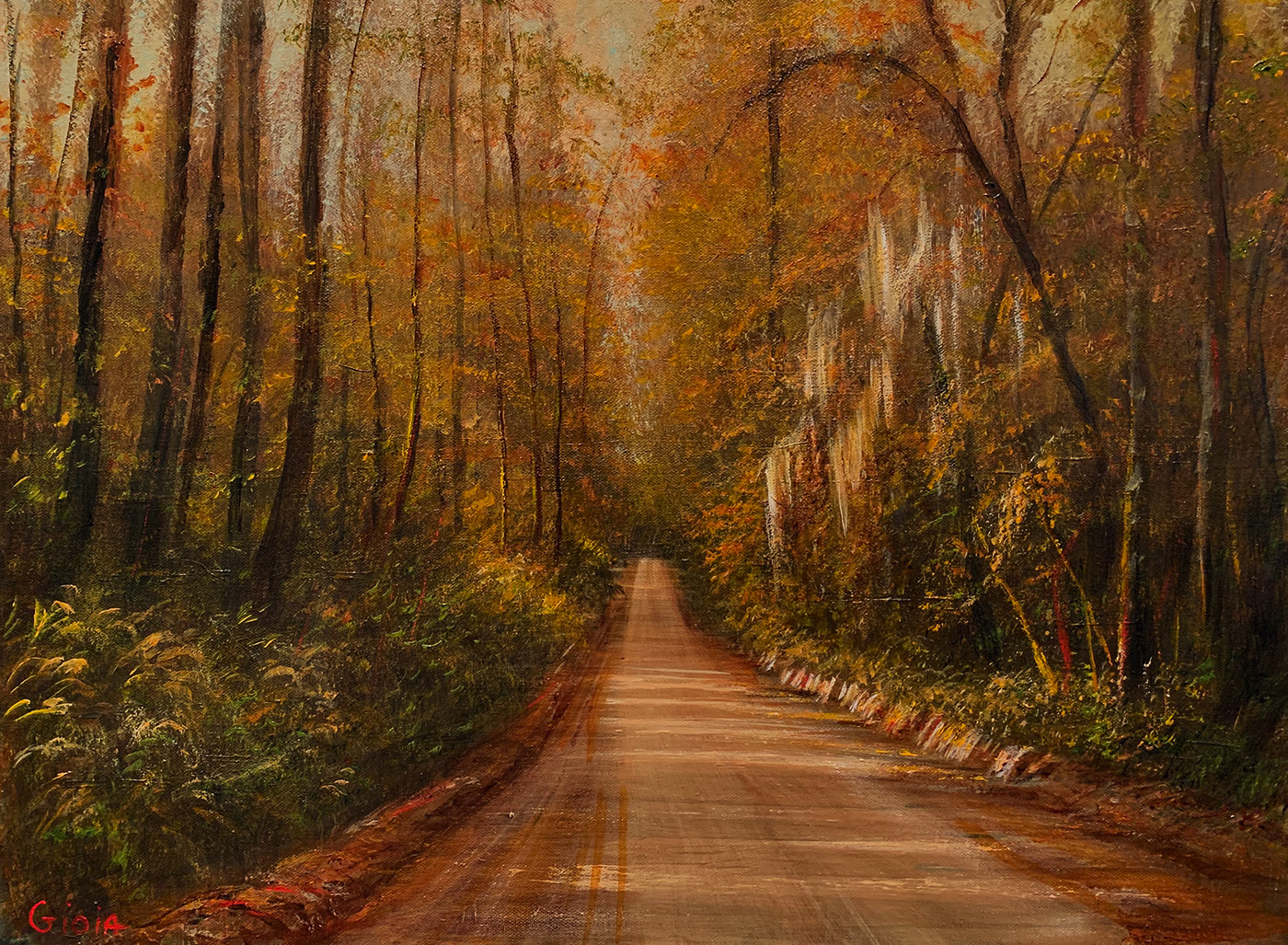 Clay Road In Autumn